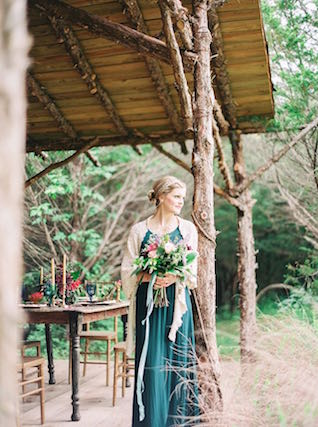 Jewel-toned bridesmaid | Julie Paisley Photography and Cedarwood Weddings | see more on: http://burnettsboards.com/2015/11/rustic-jewel-toned-wedding/