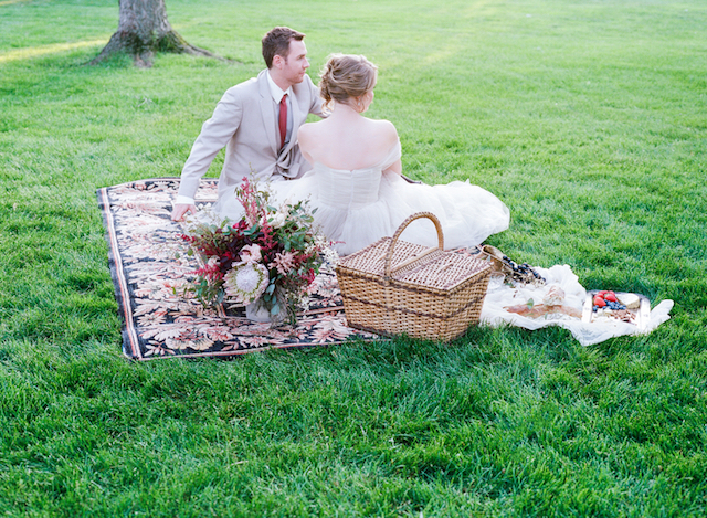 Garden picnic wedding | Tulip + Rose Photography | see more on: http://burnettsboards.com/2015/11/manets-luncheon-grass-wedding-inspiration/