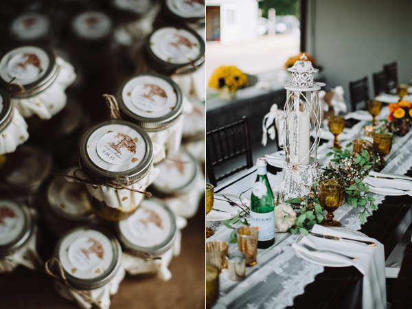 wedding favors - photo by With Love and Embers http://ruffledblog.com/valley-crest-farm-wedding