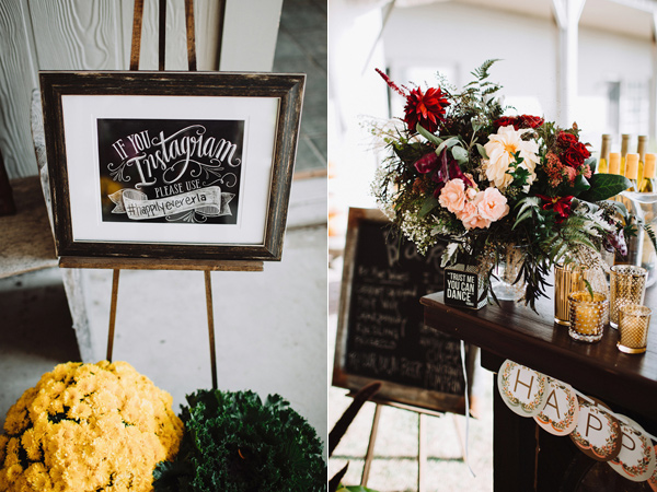 Instagram signs - photo by With Love and Embers http://ruffledblog.com/valley-crest-farm-wedding
