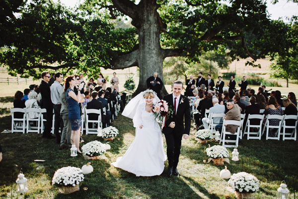 ceremony recessional - photo by With Love and Embers http://ruffledblog.com/valley-crest-farm-wedding
