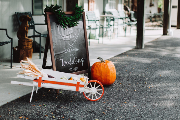 Halloween wedding - photo by With Love and Embers http://ruffledblog.com/valley-crest-farm-wedding