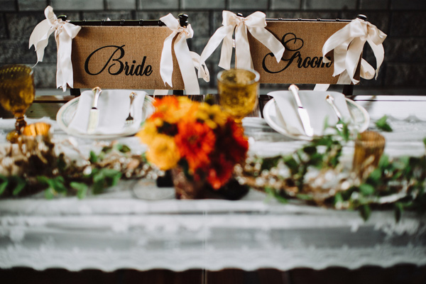 sweetheart table chairs - photo by With Love and Embers http://ruffledblog.com/valley-crest-farm-wedding