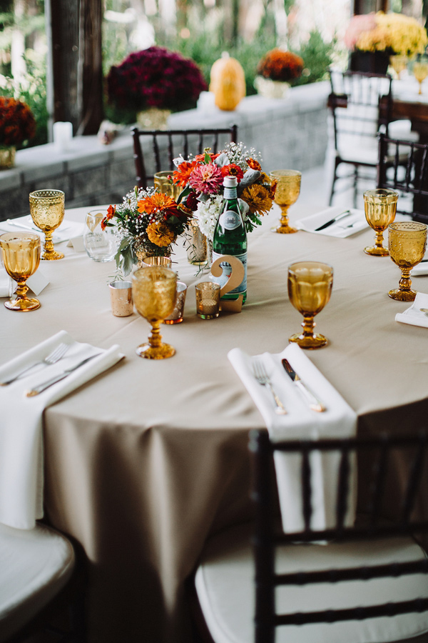 fall tablescape - photo by With Love and Embers http://ruffledblog.com/valley-crest-farm-wedding