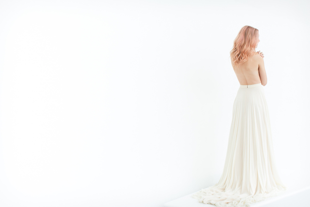 Rebecca Schoneveld bridal skirt | Canary Grey and a&bé bridal boutique | see more on: http://burnettsboards.com/2015/11/incredible-wedding-dresses/