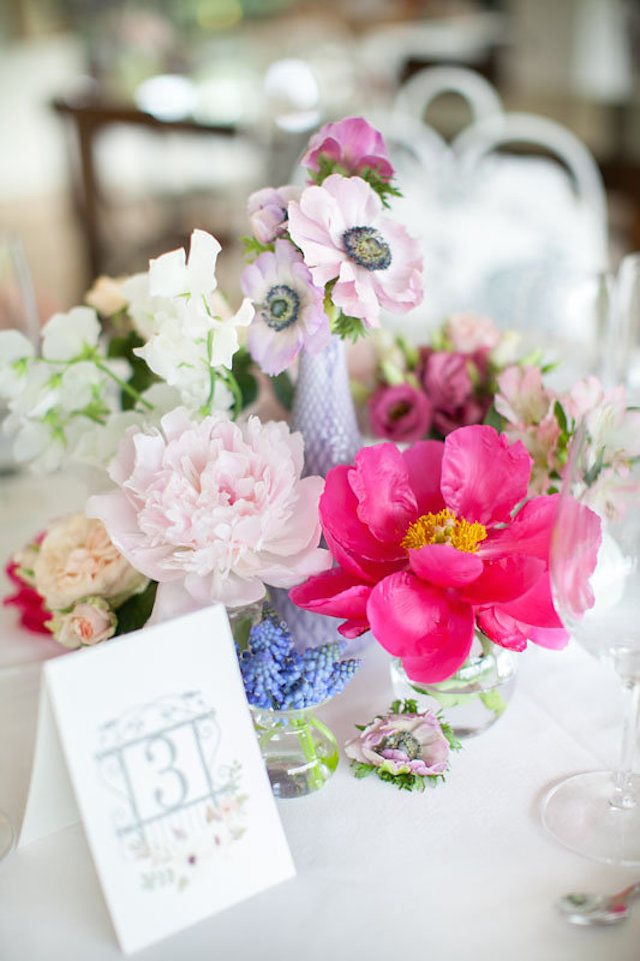 Colorful floral centerpieces | Roberta Facchini Photography | see more on: http://burnettsboards.com/2015/11/italian-bridal-preparation-inspiration/