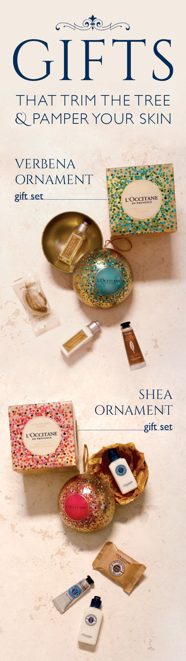 L'Occitane Shea Butter and Verbena Ornaments for Holiday 2015