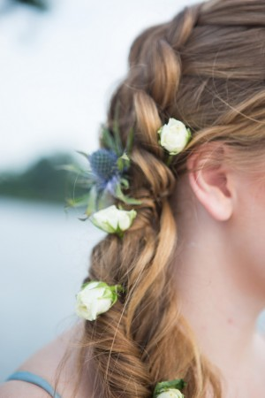 flower hairstyle - Shelly Taylor Photography