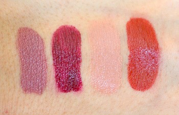 MUA Professional Color Drenched Lip Butter swatches