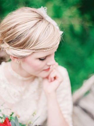 Vintage hairstyle | Julie Paisley Photography and Cedarwood Weddings | see more on: http://burnettsboards.com/2015/11/rustic-jewel-toned-wedding/