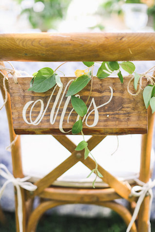 MRS chair sign | Ivy & Stone Photography | see more on: http://burnettsboards.com/2015/11/world-european-romance-themed-wedding/