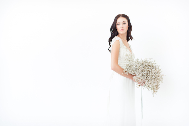 Baby's breath bridal bouquet | Canary Grey and a&bé bridal boutique | see more on: http://burnettsboards.com/2015/11/incredible-wedding-dresses/
