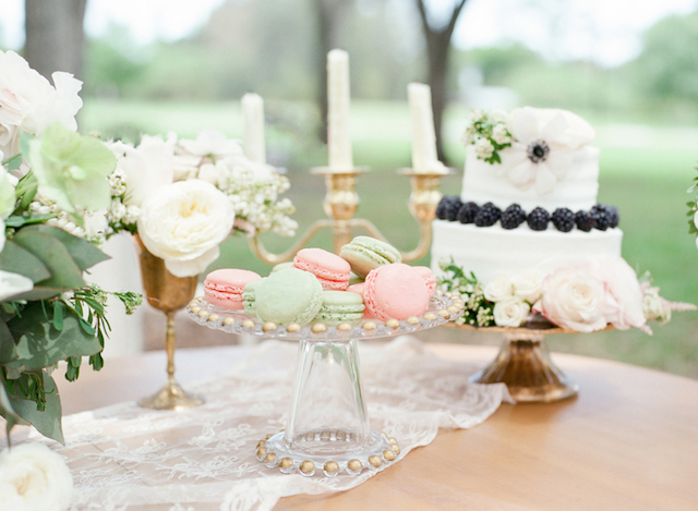 Macarons | Stephanie Rawcliffe Photography | see more on: http://burnettsboards.com/2015/11/blush-green-outdoor-bridal-session/