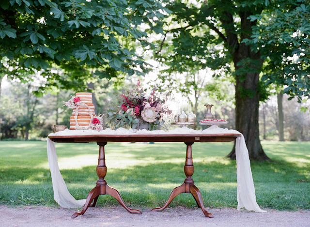 Dessert display table | Tulip + Rose Photography | see more on: http://burnettsboards.com/2015/11/manets-luncheon-grass-wedding-inspiration/