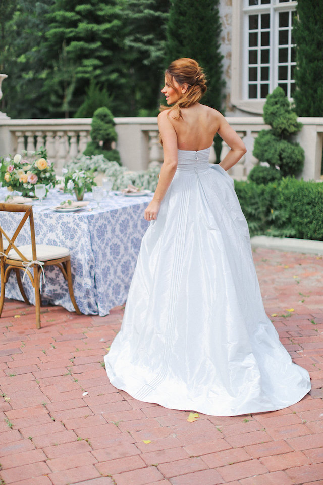 Light blue wedding dress | Ivy & Stone Photography | see more on: http://burnettsboards.com/2015/11/world-european-romance-themed-wedding/
