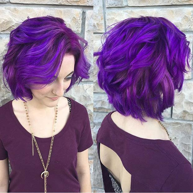 21 Looks That Will Make You Crazy For Purple Hair Beauty