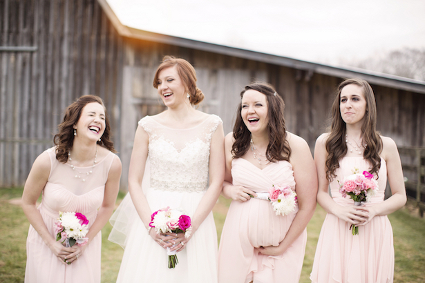 Blush Bridesmaid Dresses - Frozen Exposure Photography and Cinematography