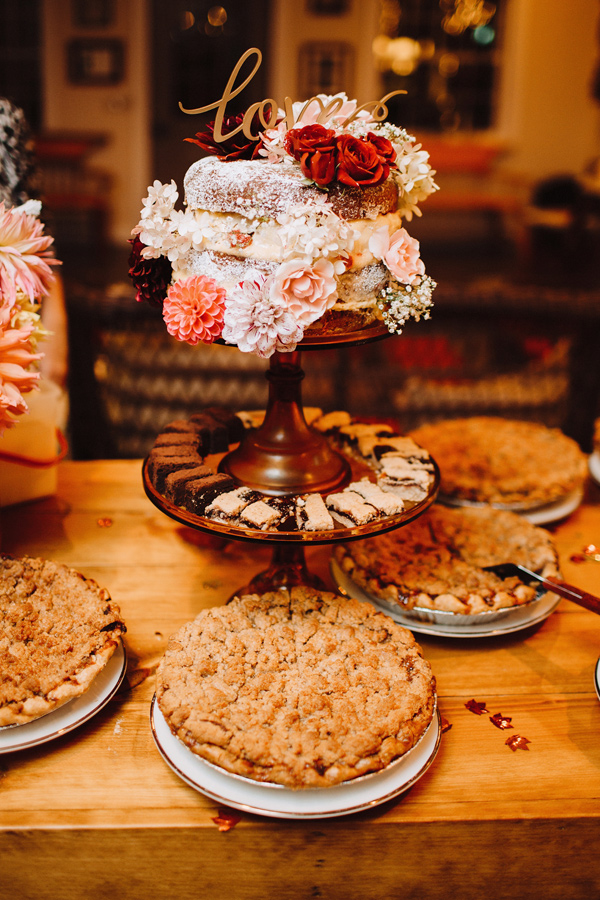 wedding desserts - photo by With Love and Embers http://ruffledblog.com/valley-crest-farm-wedding