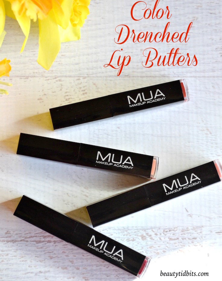 MUA Professional Color Drenched Lip Butters review