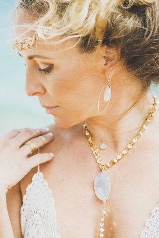 Bohemian jewelry | Angie Diaz Photography | see more on: http://burnettsboards.com/2015/12/boho-glam-beach-anniversary-shoot-maui/