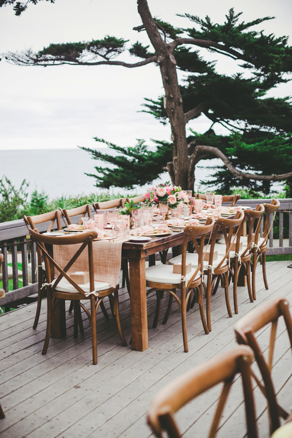 beachside wedding reception - photo by Katie Nicolle Photography http://ruffledblog.com/romantic-intimate-styled-shoot