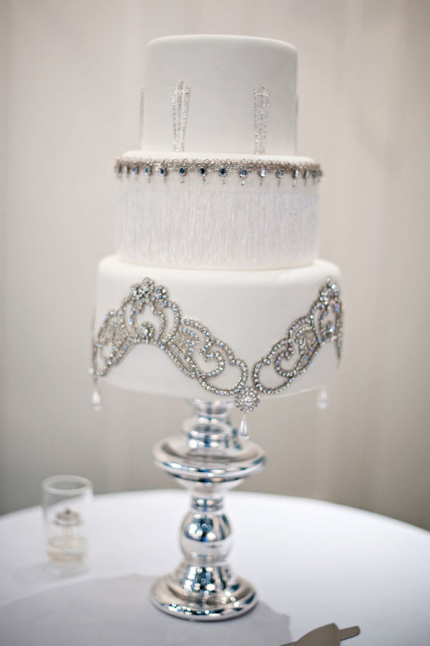 Winter Wedding Cake - Cake by The Butter End Cakery, Photo: Kristen Weaver Photography