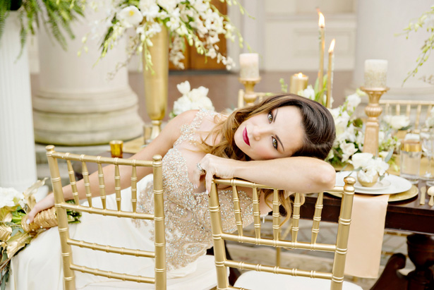 White and Gold Wedding Inspiration - Andie Freeman Photography