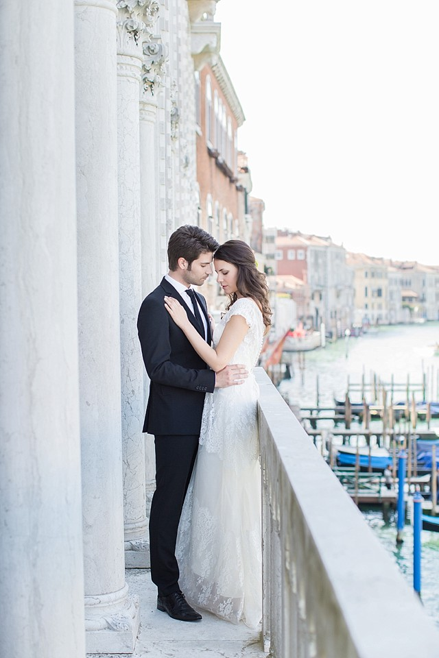 Destination wedding in Venice   Tyler Rye and My Italian Wedding Planner   see more on: http://burnettsboards.com/2015/11/mint-pink-styled-shoot-venice/