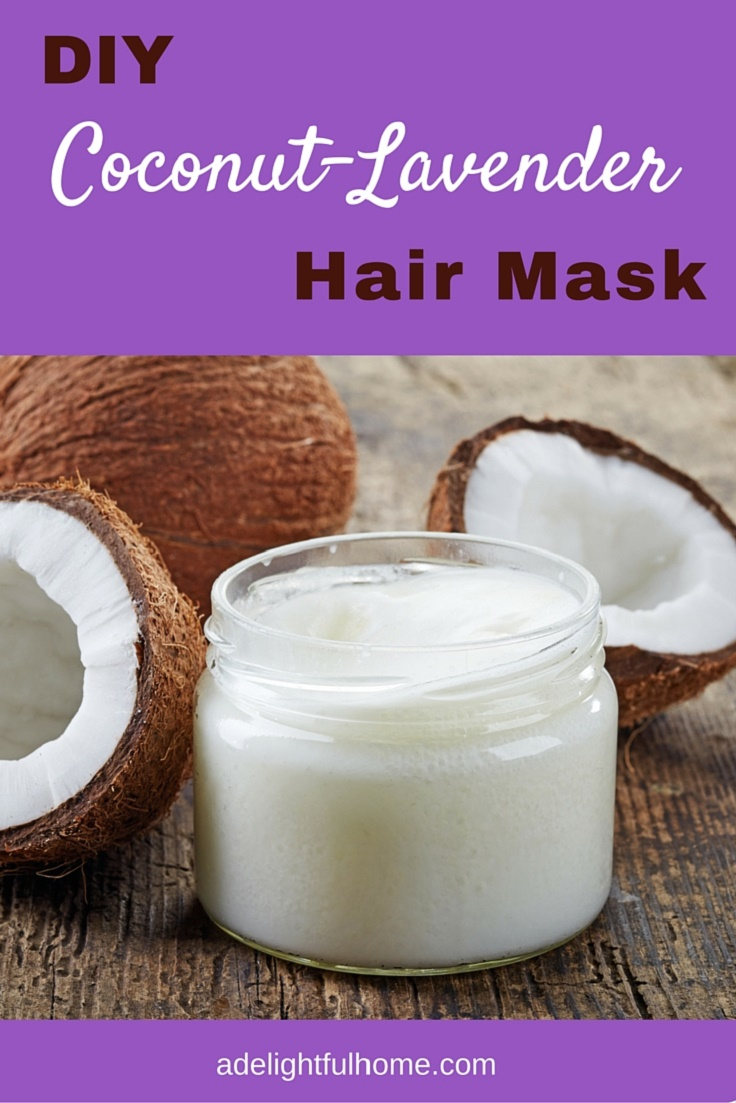 DIY Coconut Lavender Hair Mask