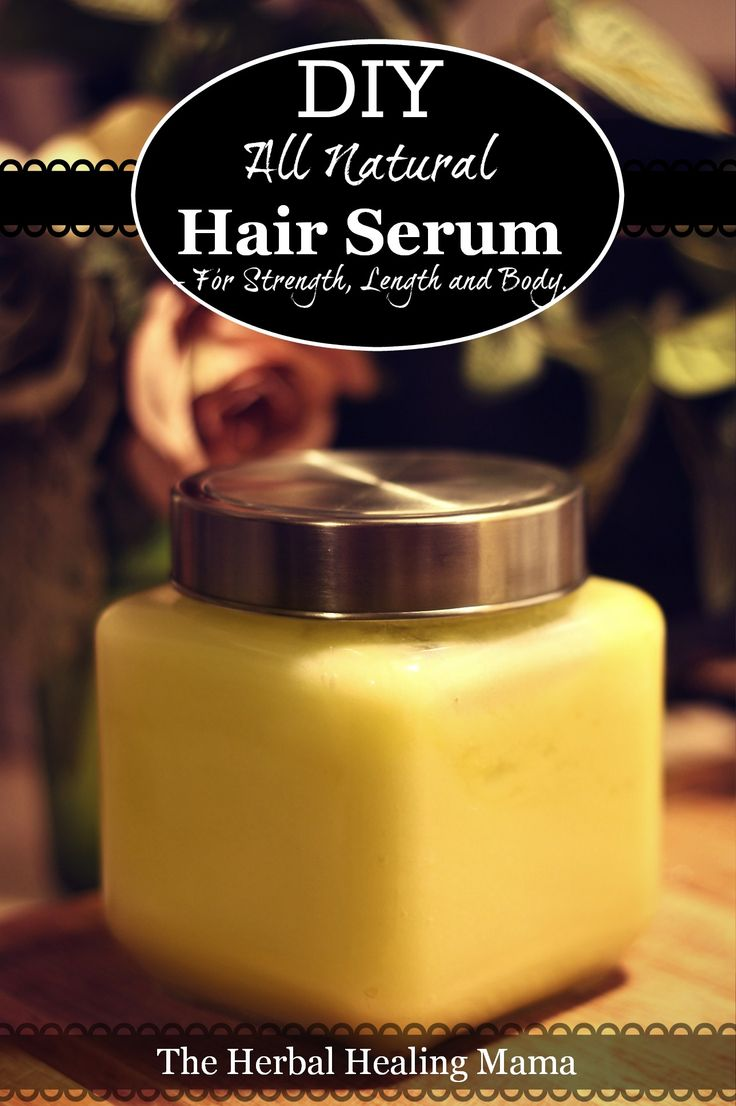 DIY Hair Serum with Peppermint Oil