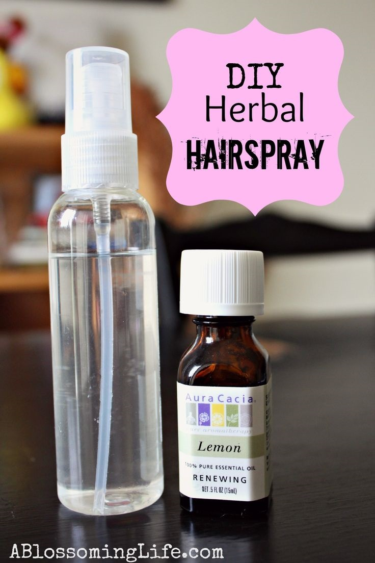 DIY Herbal Hairspray with Lemon Essential Oil