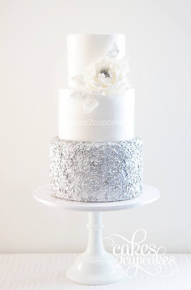 #WeddingTrends : Sequin Cake - By Cakes2Cupcakes