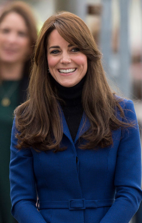 Kate Middleton's Side-Swept Bangs