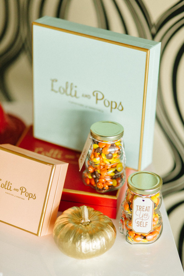 candy bar - photo by Emily Sacco http://ruffledblog.com/glam-holiday-wedding-inspiration