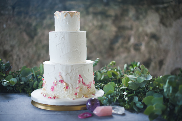 Gem-inspired wedding cake | Laura Power Photography and @thewedbazaar | see more on: http://burnettsboards.com/2015/12/gem-themed-wedding-castle/