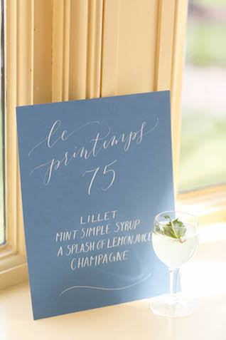 Custom cocktail recipe | V.A. Photography | see more on: http://burnettsboards.com/2015/12/eastern-shore-wedding/