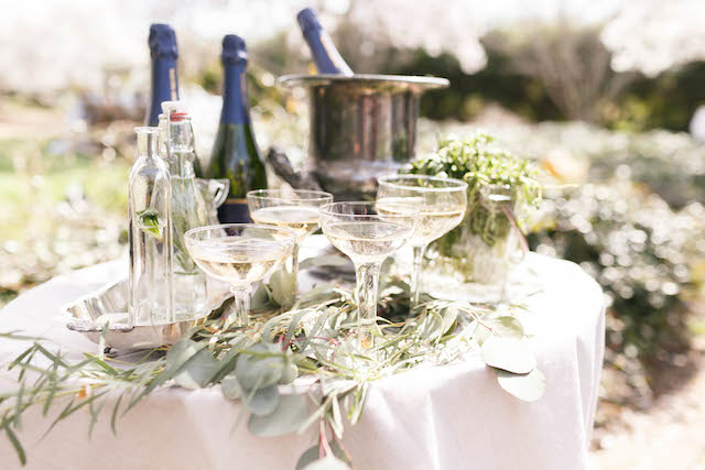 Champagne station for a wedding | V.A. Photography | see more on: http://burnettsboards.com/2015/12/eastern-shore-wedding/