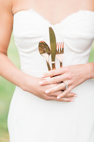 Cutlery | Chris Loring Photography | see more on: http://burnettsboards.com/2015/12/roots-shoot-an-elegant-organic-farm-wedding/