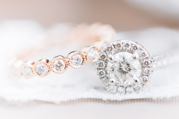 wedding rings - photo by Lora Grady Photography http://ruffledblog.com/fairytale-cottage-wedding-at-craven-farm
