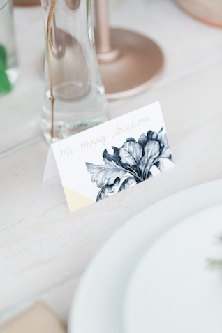 Farm-themed place cards | Chris Loring Photography | see more on: http://burnettsboards.com/2015/12/roots-shoot-an-elegant-organic-farm-wedding/