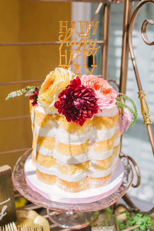 bridal shower cake - photo by Yasmin Sarai Photography http://ruffledblog.com/rose-inspired-bridal-shower