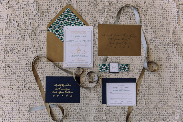 Roaring twenties wedding invitation suite | Cari Courtright Photography | see more on: http://burnettsboards.com/2015/12/vintage-glam-bridal-boudoir/