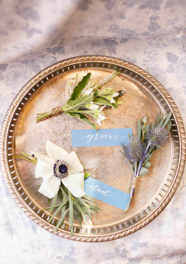 Boutonnieres | V.A. Photography | see more on: http://burnettsboards.com/2015/12/eastern-shore-wedding/