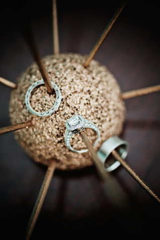 Unique ring shot | Kristyn Hogan and Cedarwood Weddings | see more on: http://burnettsboards.com/2015/12/yellow-metallic-mod-wedding/