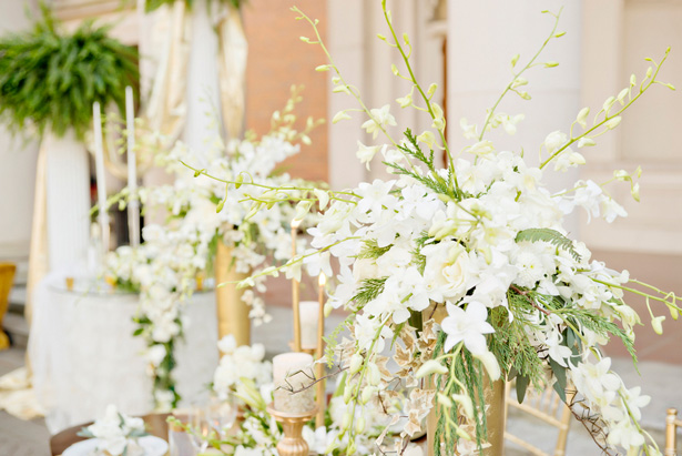 Tall wedding centerpieces - Andie Freeman Photography