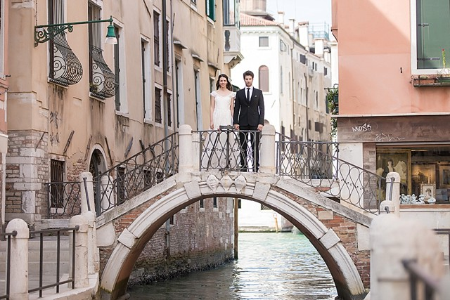 Destination wedding in Venice | Tyler Rye and My Italian Wedding Planner | see more on: http://burnettsboards.com/2015/11/mint-pink-styled-shoot-venice/