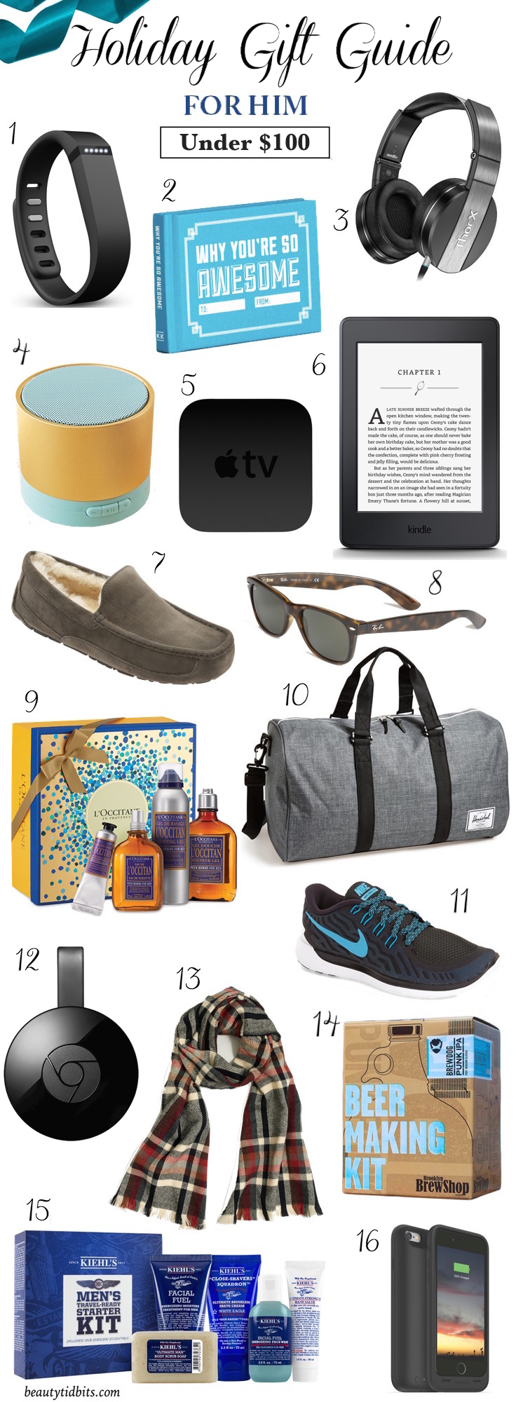 Racking your brain for what to give the special guys on your holiday list? Check out 16 stocking stuffers and holiday gift ideas for men under $  100 that are sure to be major winners!
