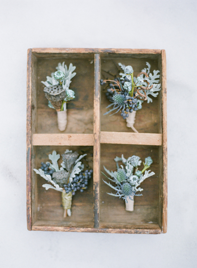 Boutonnieres   Shannon Von Eschen Photography   see more on: http://burnettsboards.com/2015/12/grooms-shoot/