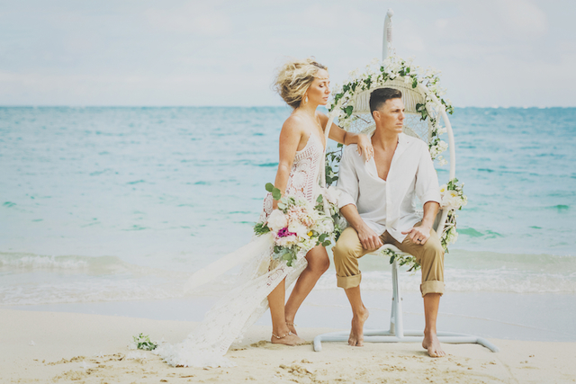 Bohemian beach anniversary shoot in Maui | Angie Diaz Photography | see more on: http://burnettsboards.com/2015/12/boho-glam-beach-anniversary-shoot-maui/