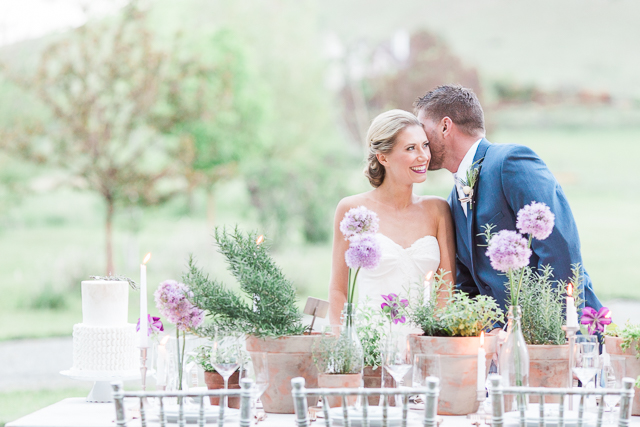 Green and purple tablescape | Chris Loring Photography | see more on: http://burnettsboards.com/2015/12/roots-shoot-an-elegant-organic-farm-wedding/